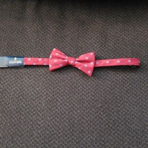 Stafford Adjustable Red Bow tie.